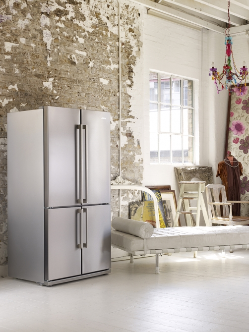 Smeg side-by-side refrigerators